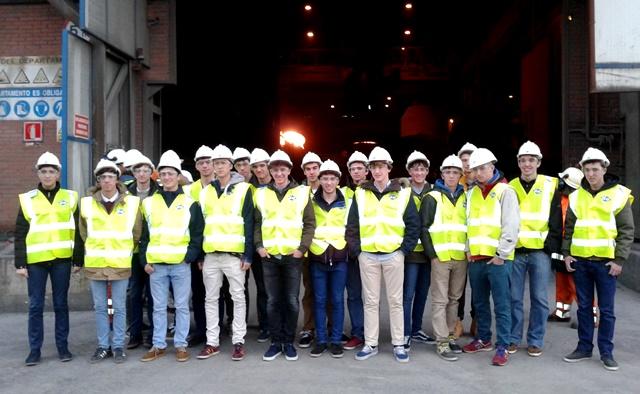 Gaztelueta - visita de estudios acería Olarra