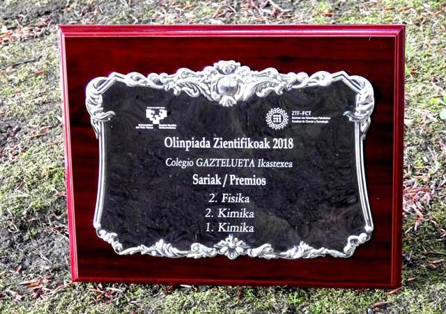 Gaztelueta en las Olimpiadas Científicas Vascas 2018- UPV/EHU