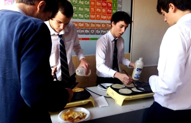 Gaztelueta: creppes en la última clase de Francés