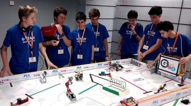 G-TEAM de Gaztelueta en la First Lego League de Euskadi