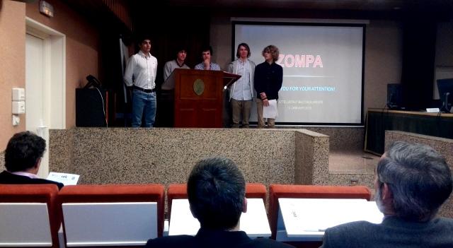 Congreso de Jóvenes Científicos - el equipo ganador respondiendo a las preguntas del jurado