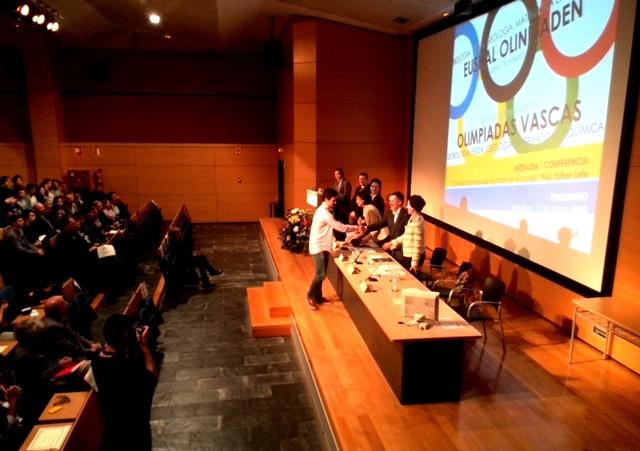 Gaztelueta - Medalla de plata Olimpiada de Química del País Vasco 2015