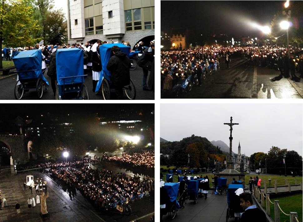 Gaztelueta: atención enfermos en Lourdes 2016