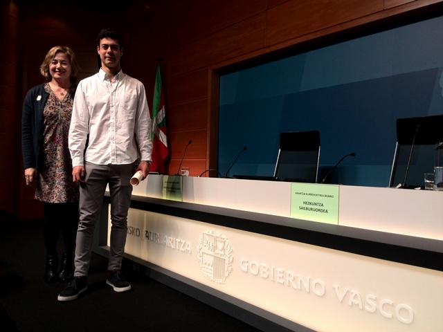Gaztelueta - Gobierno Vasco: entrega Premio Extraordinario de Bachillerato
