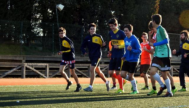 Gaztelueta: entrenamiento equipo fútbol Juvenil 2016-2017